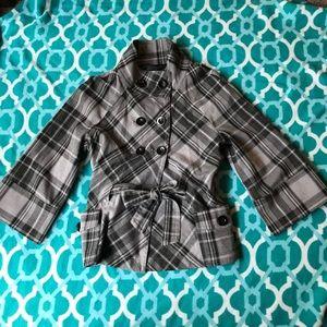 Apt. 9 Small Gray Plaid Jacket Blazer